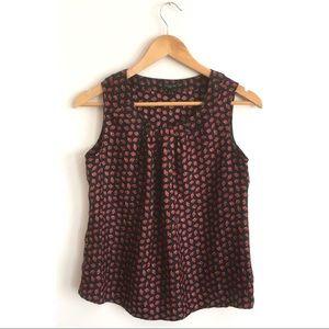 Talbots Petite Silk Twill - Ladybugs